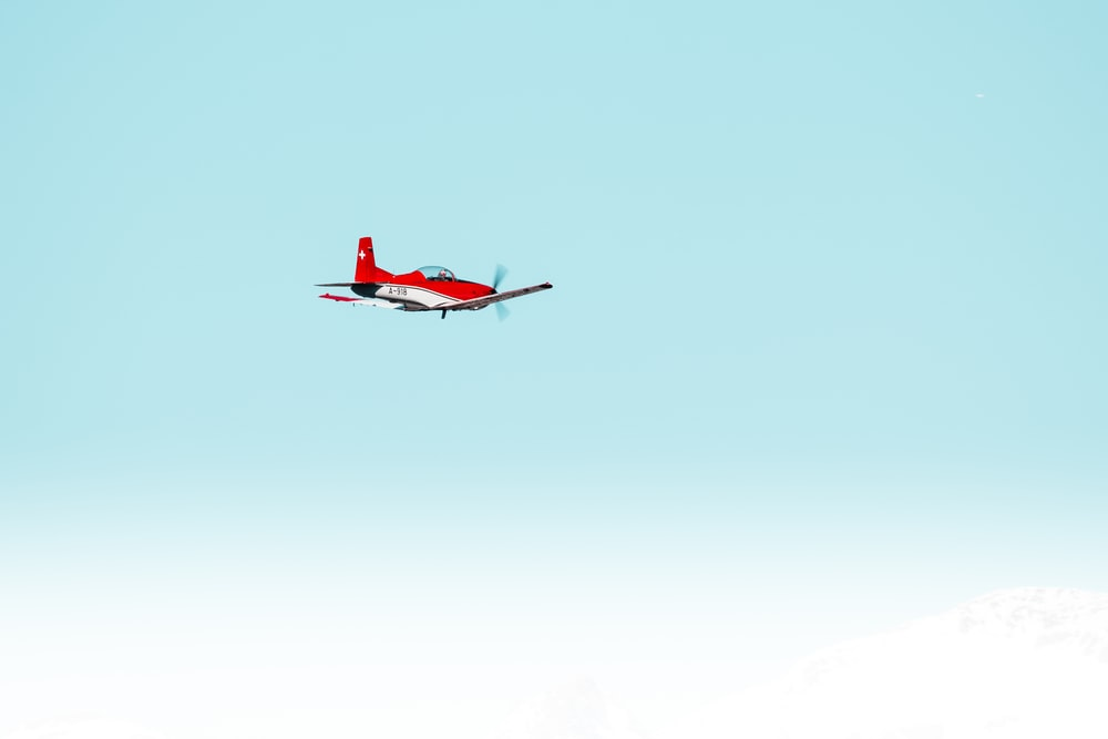 red airplane