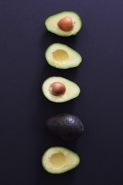 sliced avocado fruits