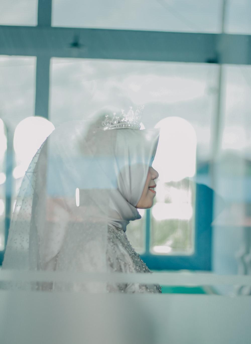 woman wearing hijab headdress