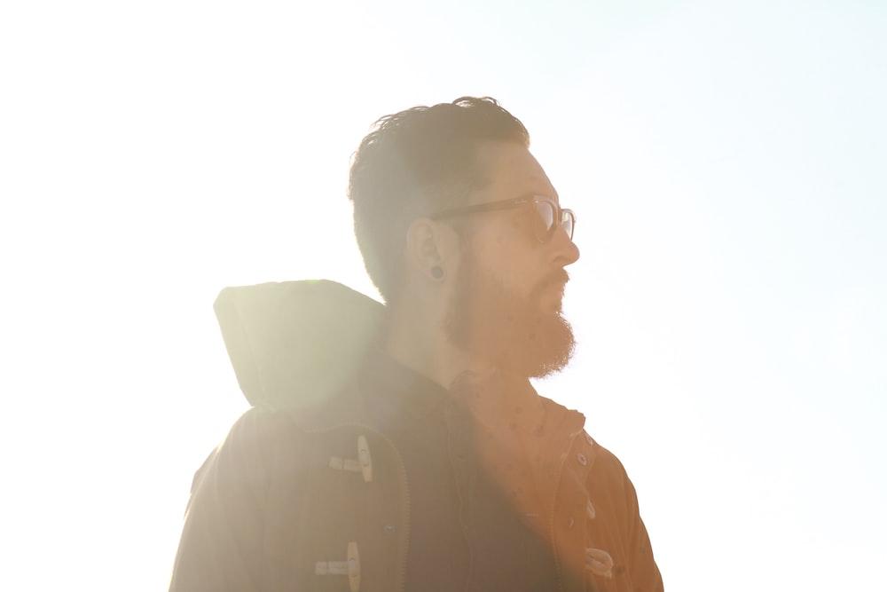 man in black jacket
