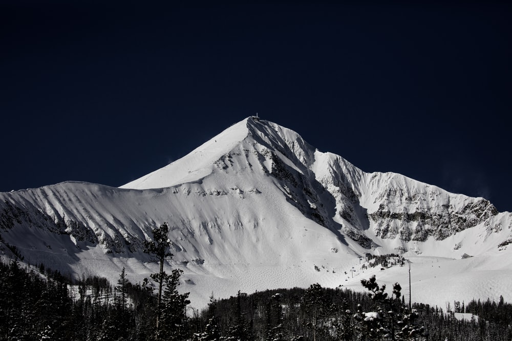 snow capped mountain during clear blue sky