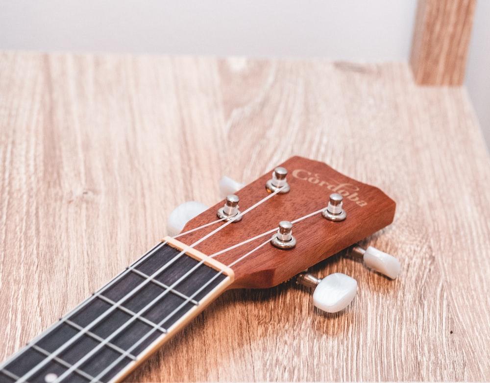 brown guitar headstock