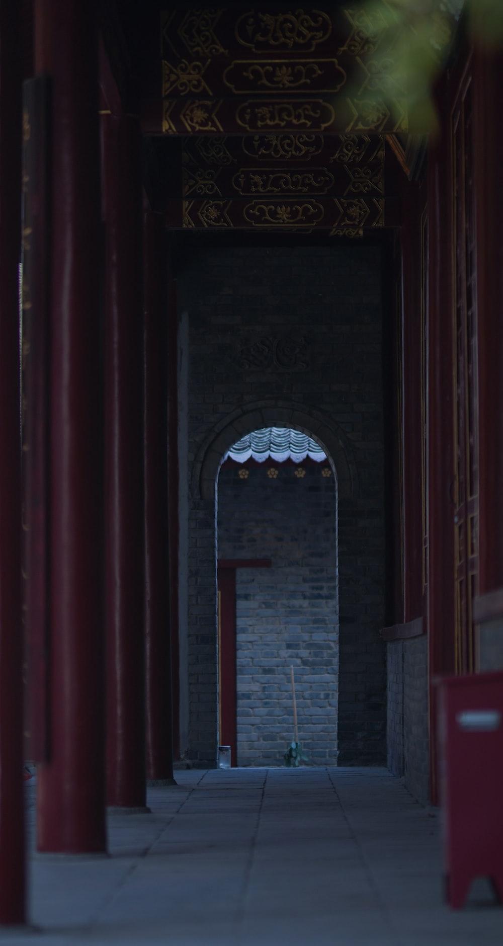 gray building archway