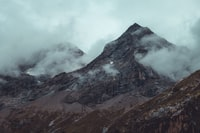 view of mountains with fogs