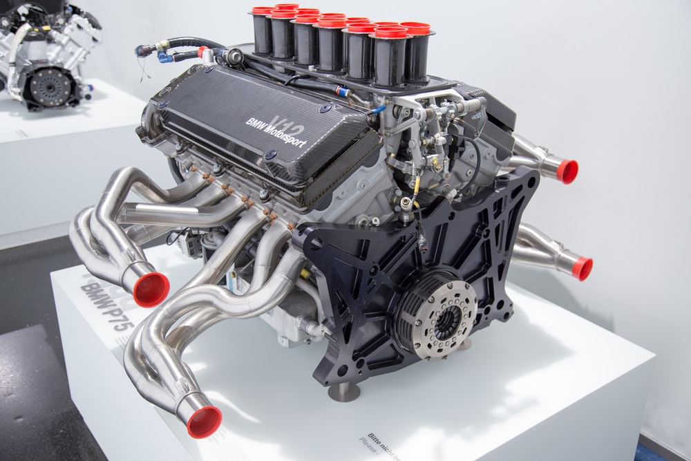 gray car engine