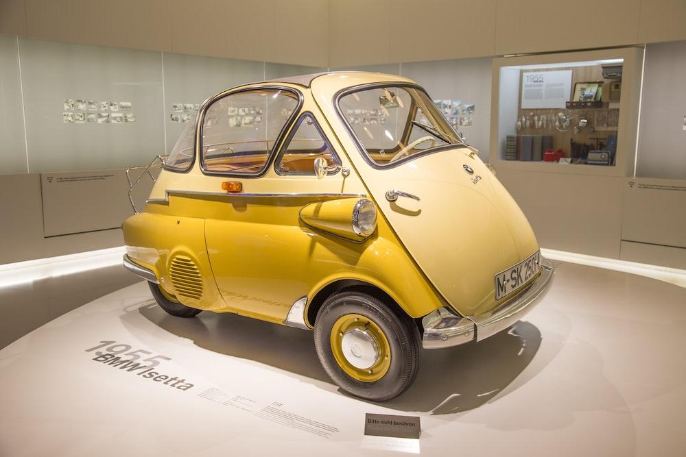 vintage yellow car