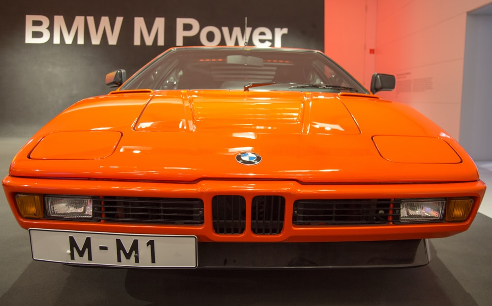 orange BMW M Power vehicle