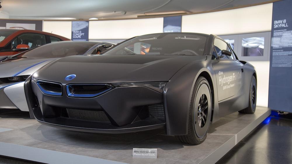 black BMW coupe