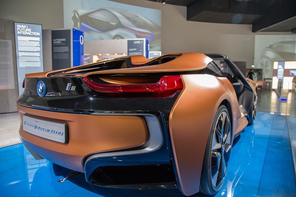 brown BMW car