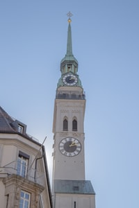 gray tower clock