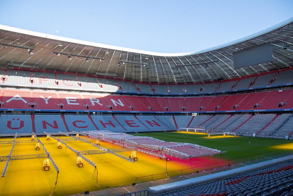 multicolored sports dome