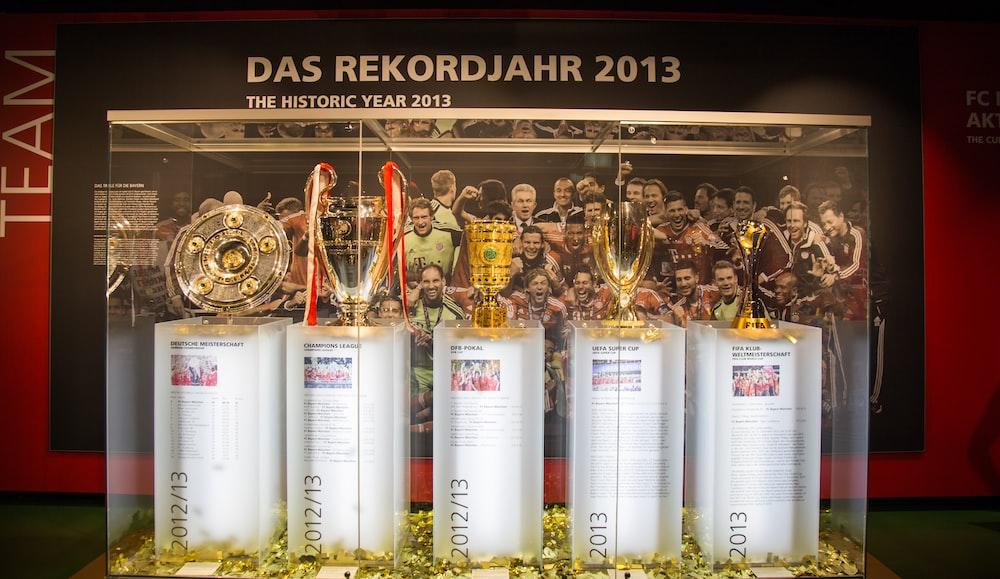 five trophies