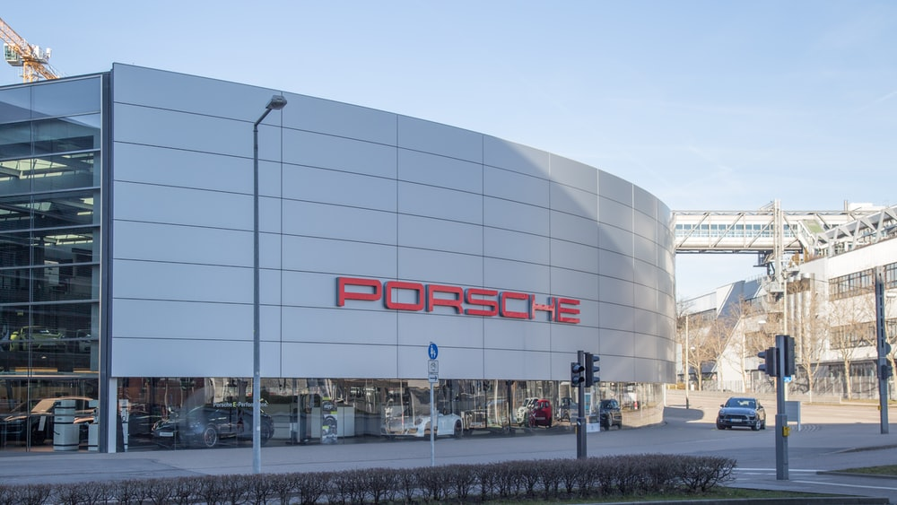 Porsche car store building