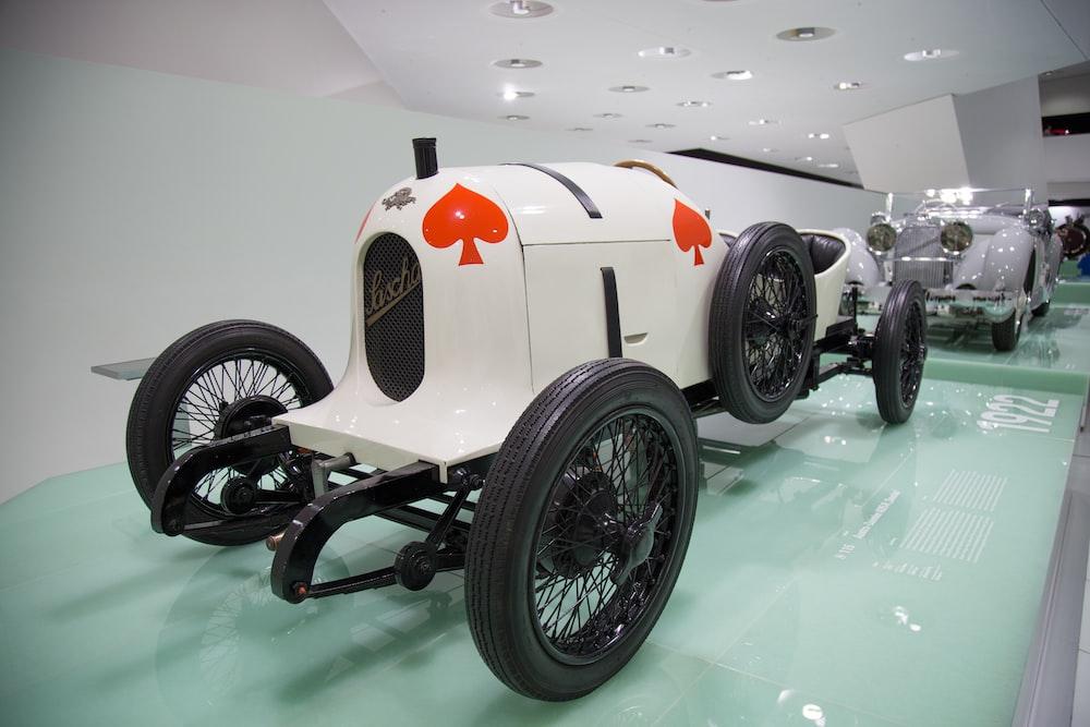 white vehicle