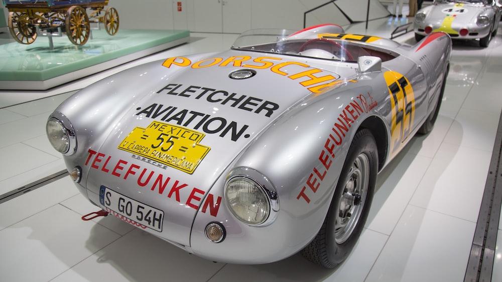 gray vintage car