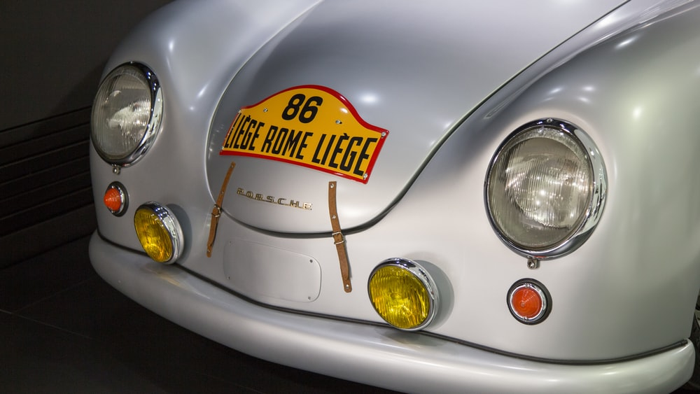 classic silver Porsche vehicle
