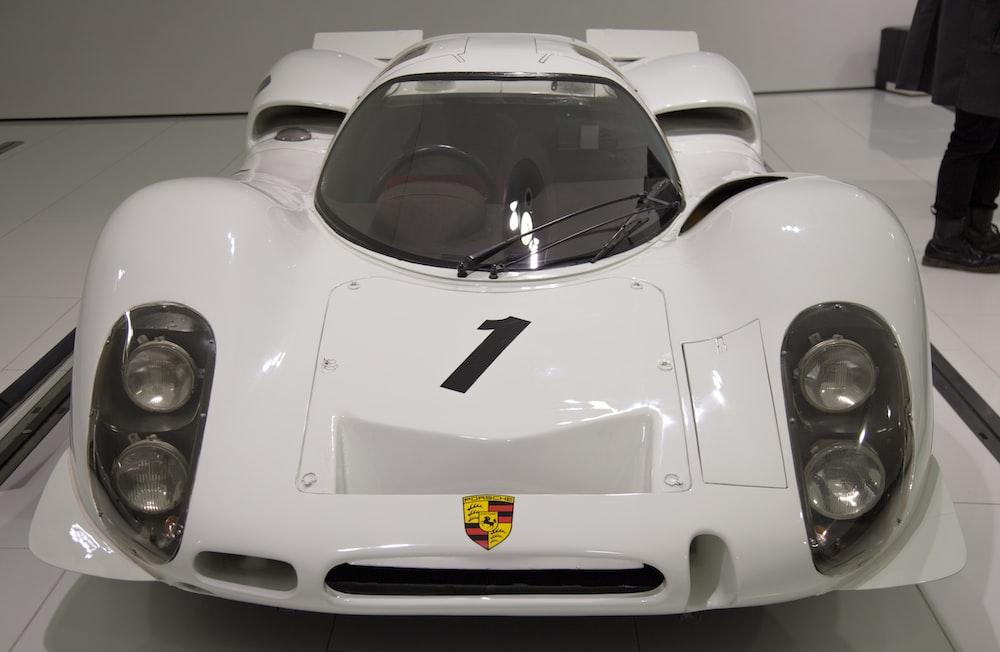 white Porsche vehicle