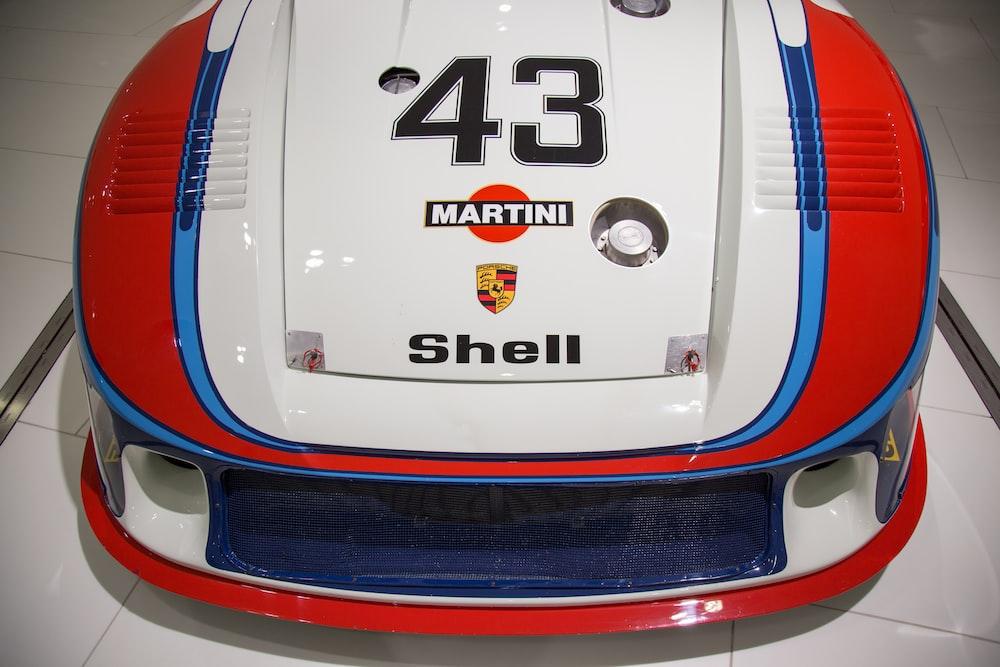 white and multicolored Martini Shell stickers
