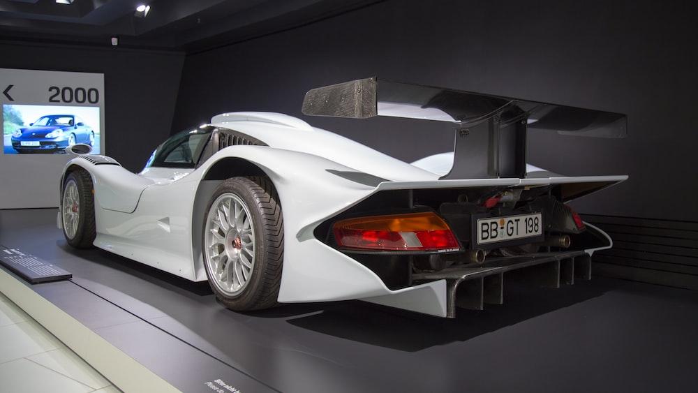 white racing car