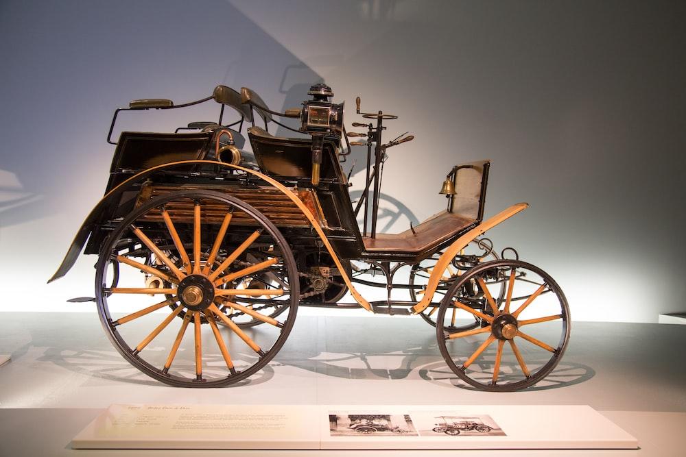vintage brown vehicle