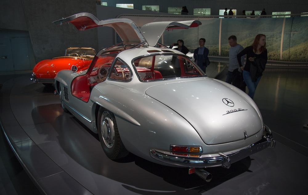 silver Mercedes-Benz coupe