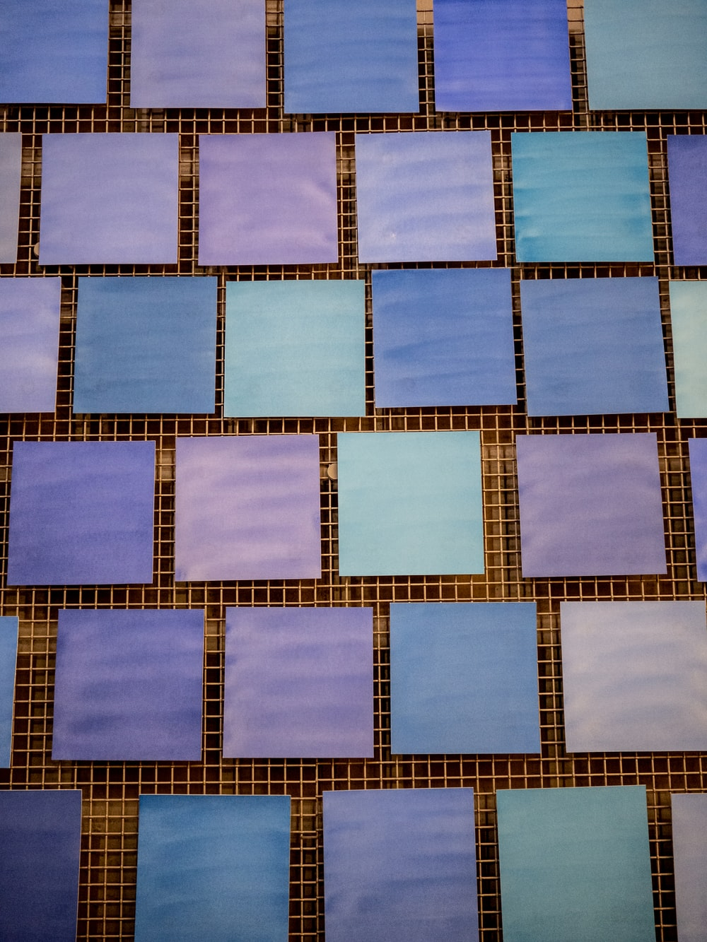 purple and teal printer papers