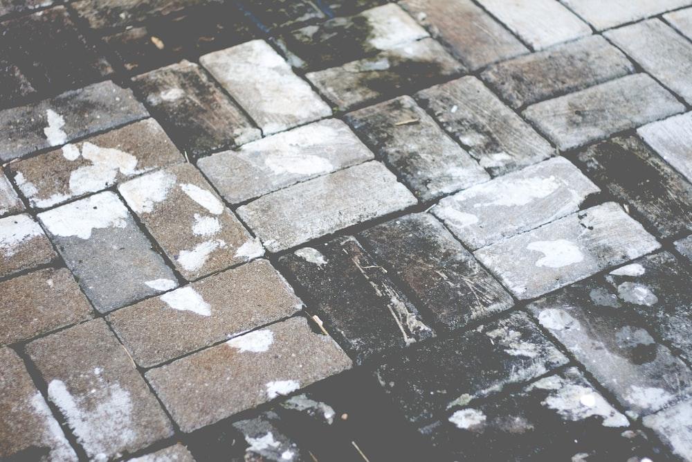 gray concrete brick surface