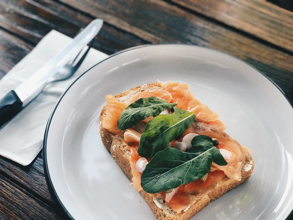 sandwich bread on white ceramic plate