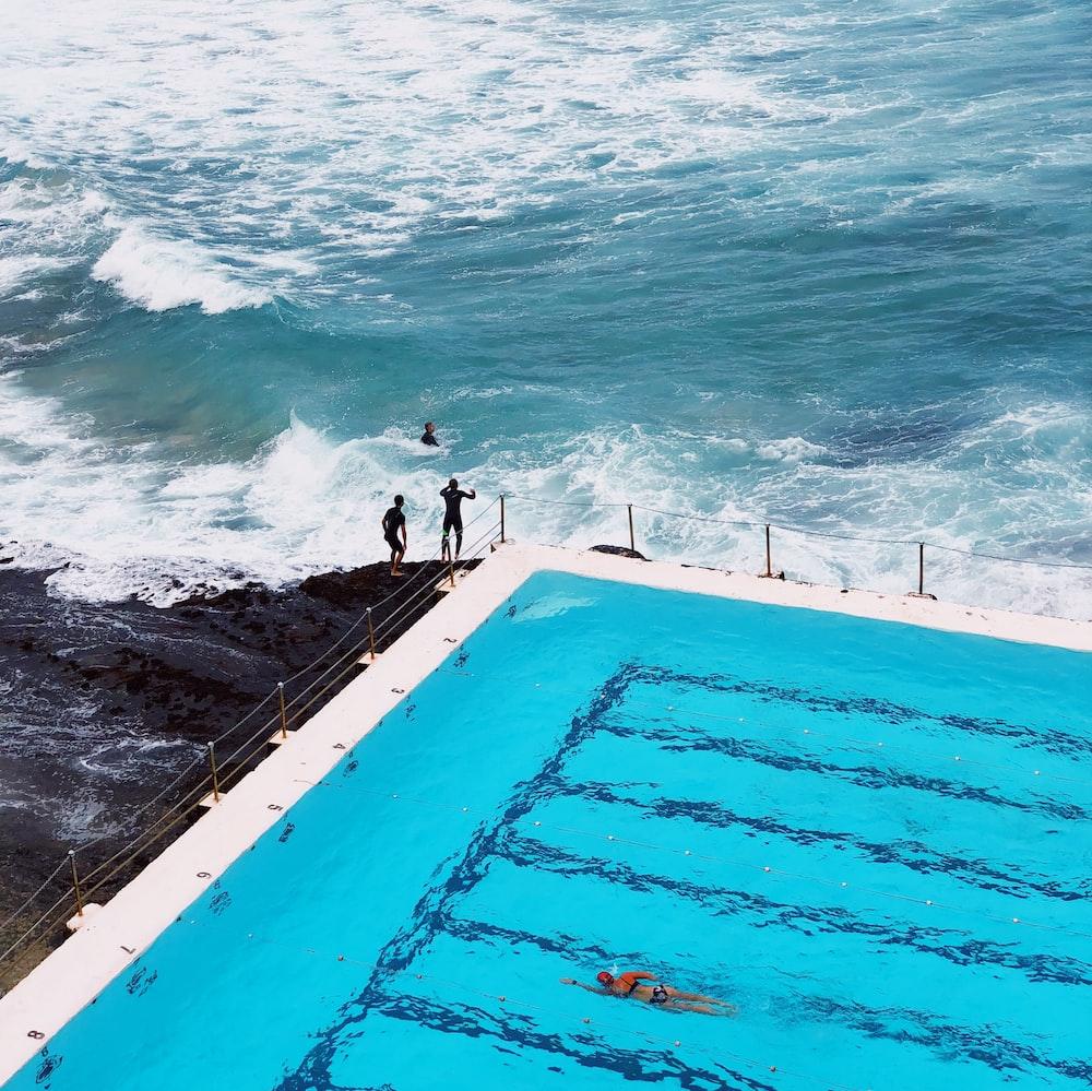 two person's near sea