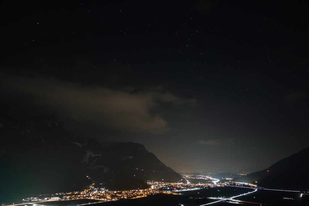 cityscape at nighttime