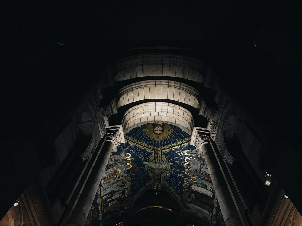 ceiling painting church