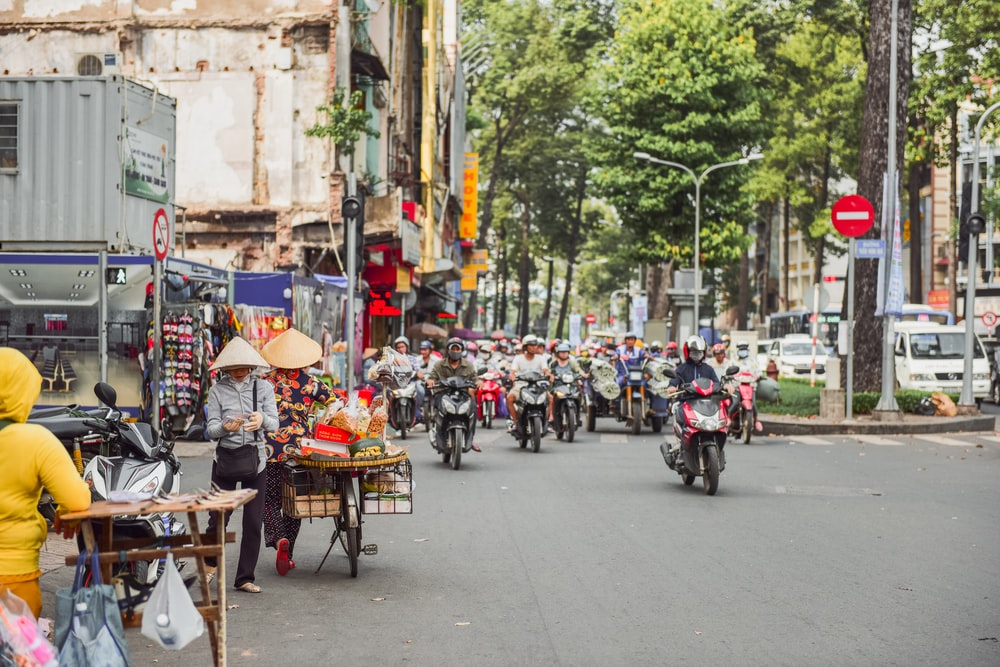 motorcycles on street during daytime