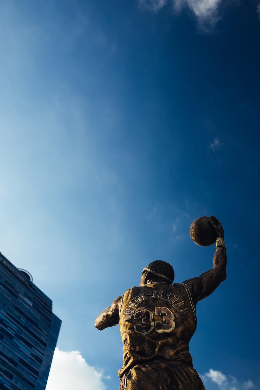 NBA player statue