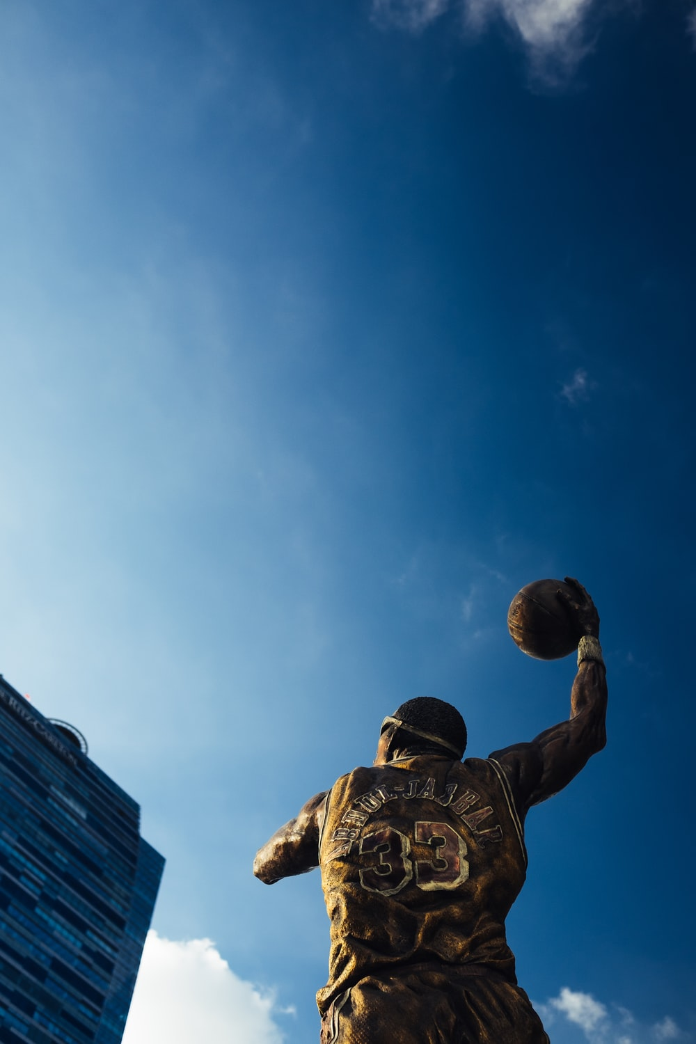 NBA player statue