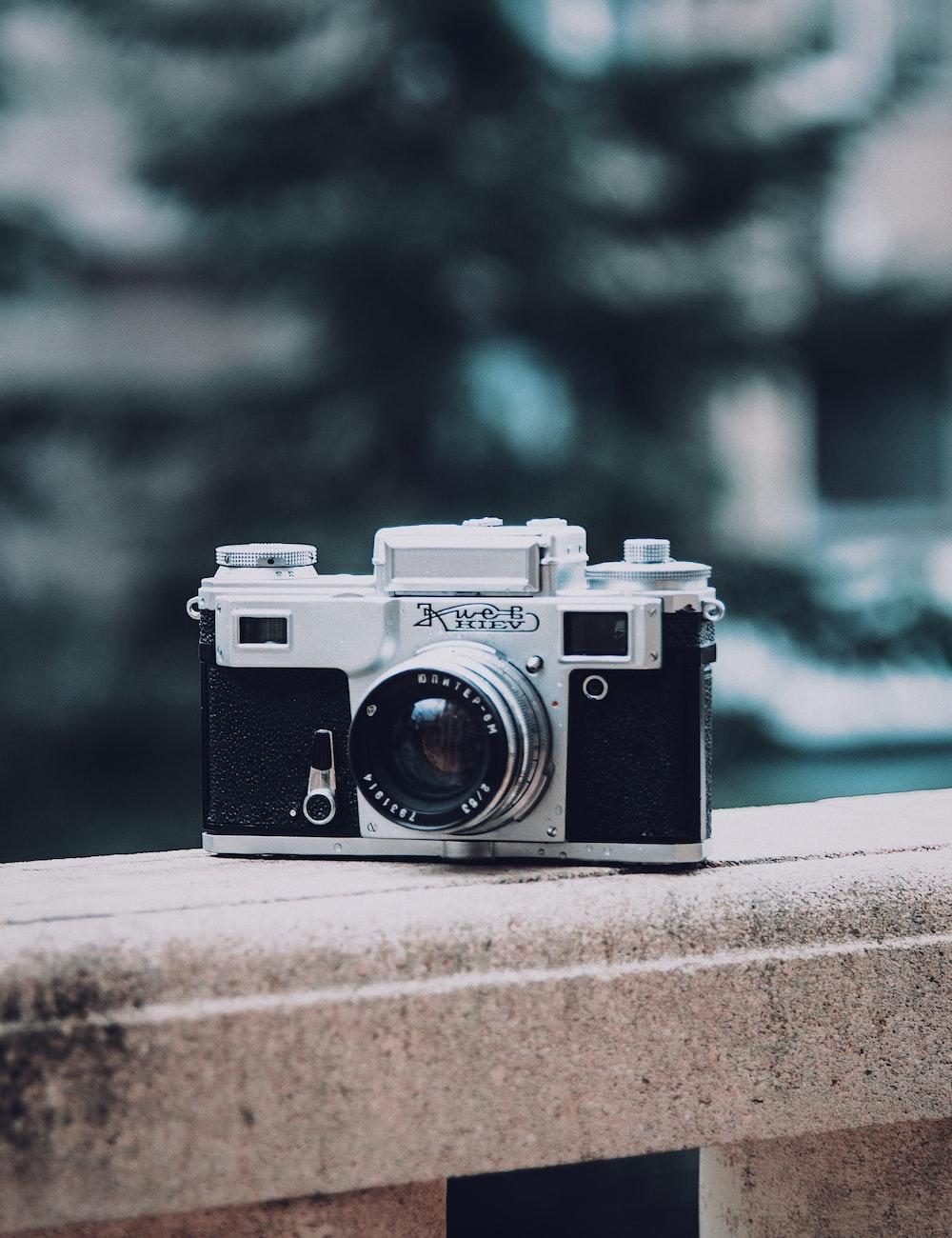 silver and black bridge camera