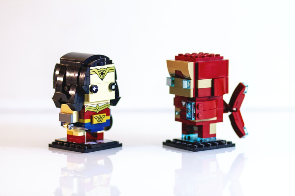 Wonder Woman and Iron Man lego toys