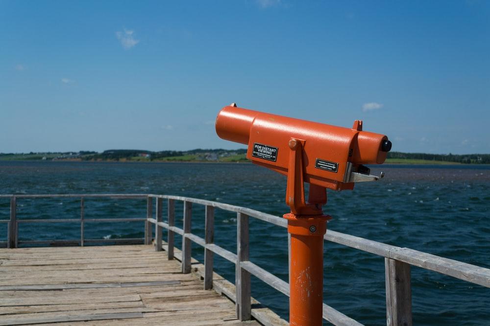 orange telescope on seadock