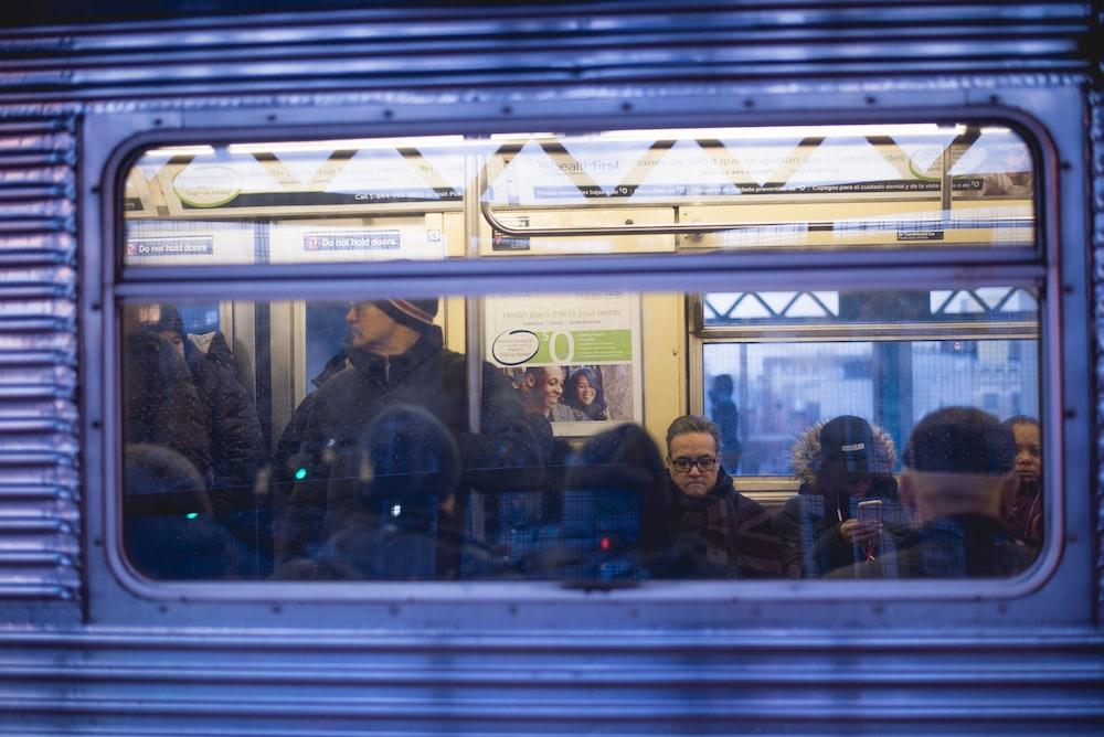people inside bullet train