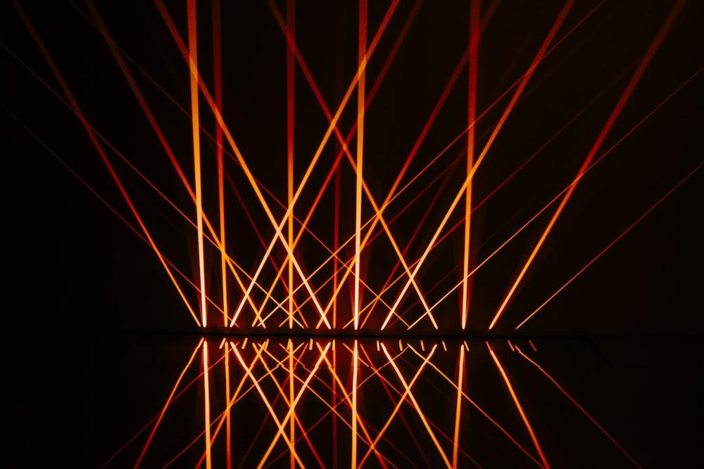orange strobe lights