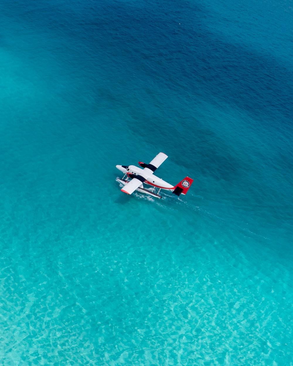 white sea plane