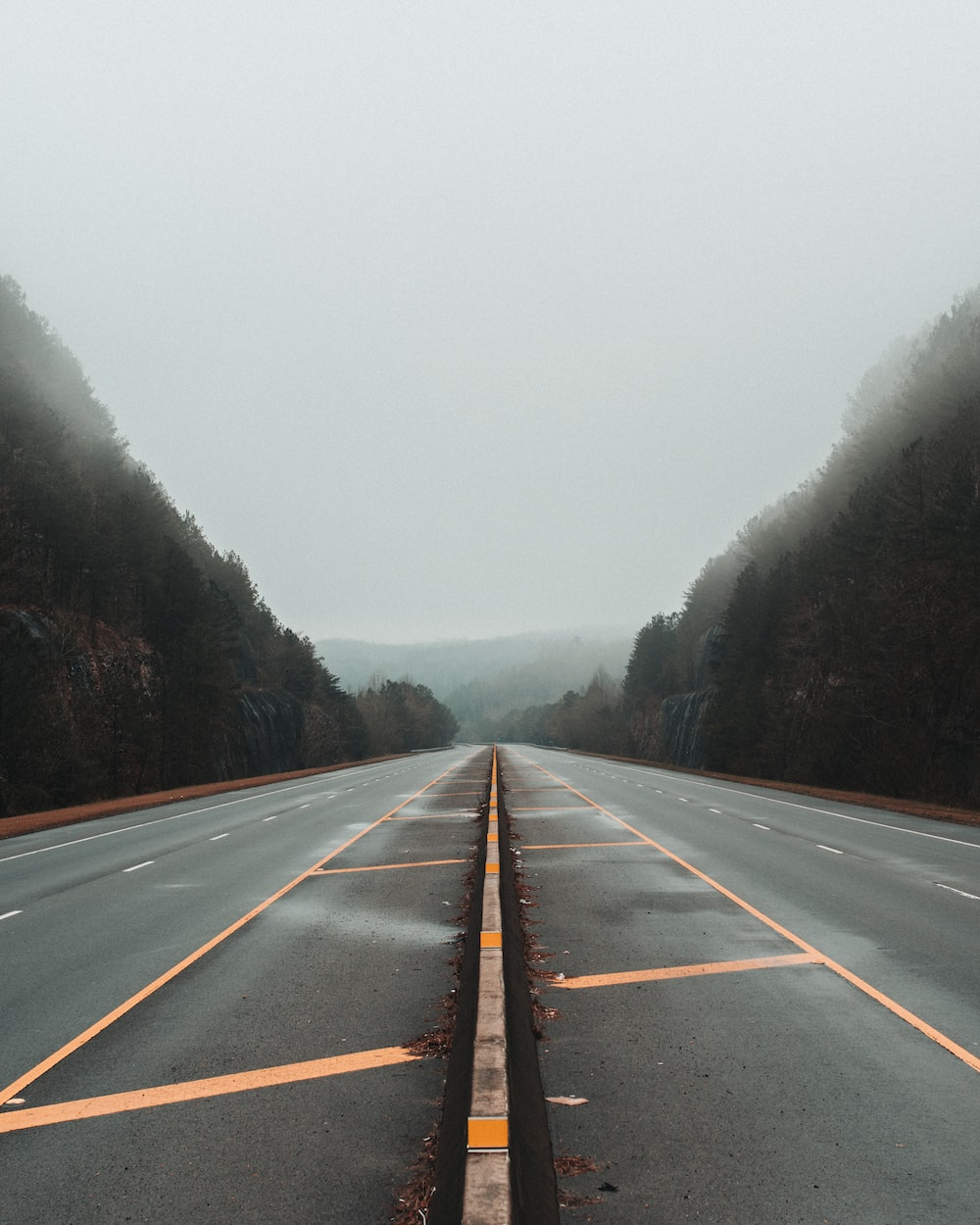 gray concrete road during daytime