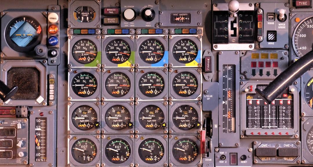 Concorde Aircraft instrument panel