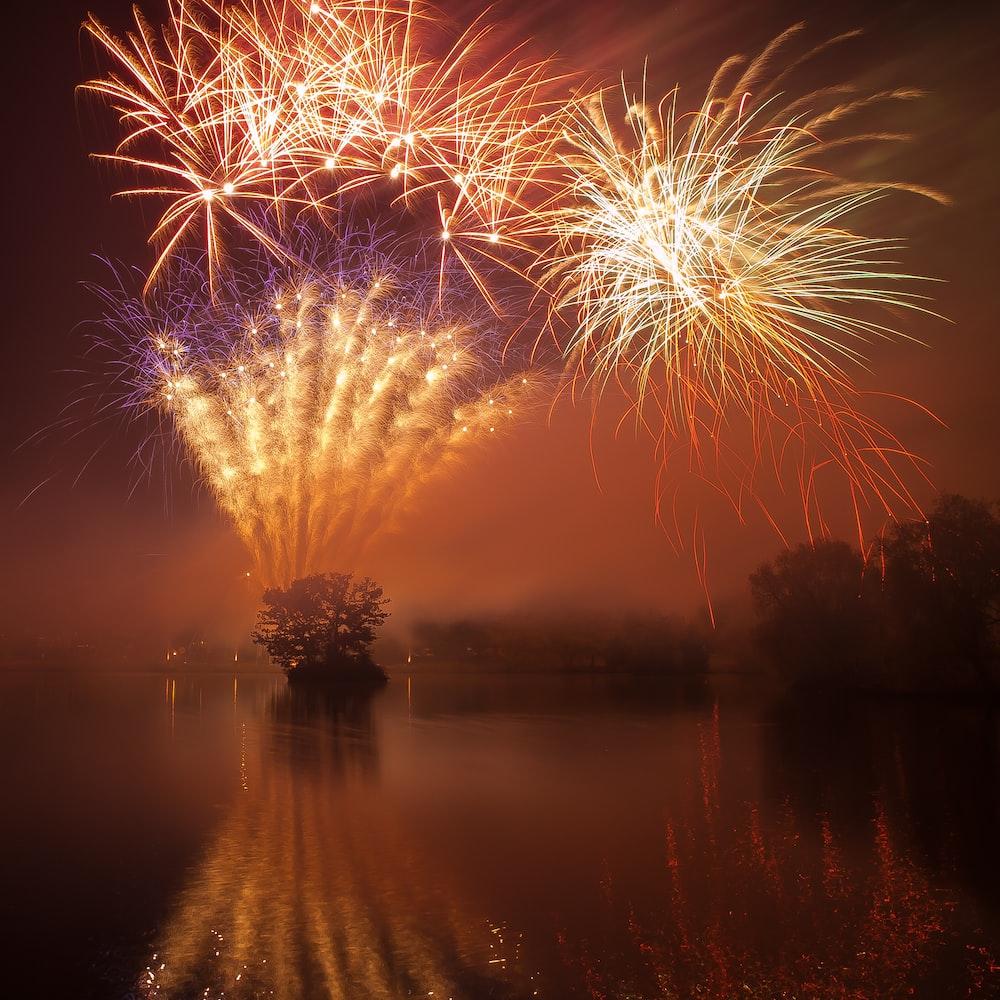 fireworks during daytime