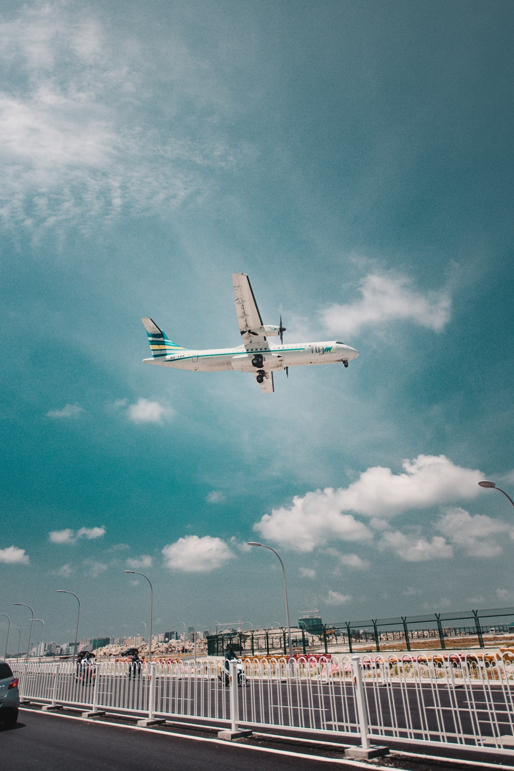 plane on air under blue sky at daytime