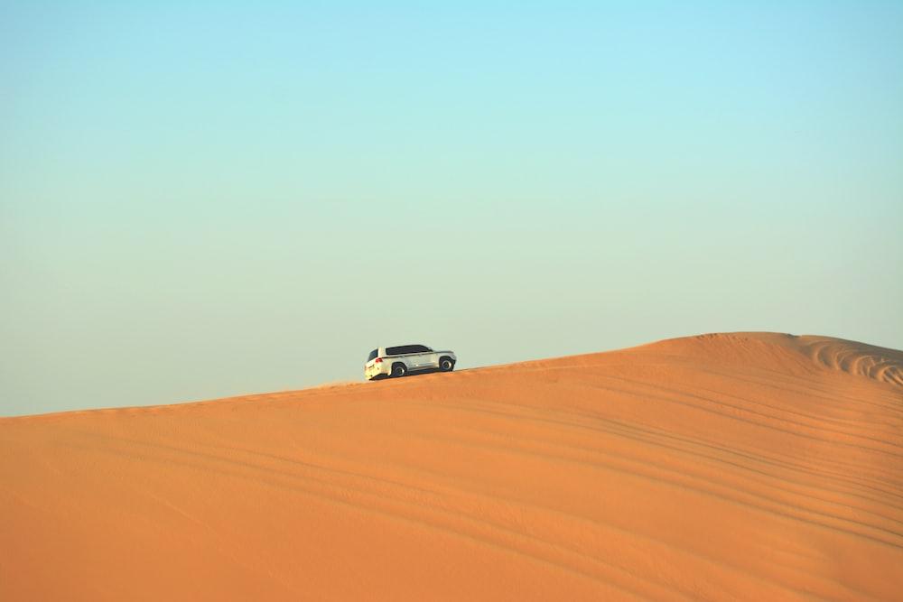 SUV on desert