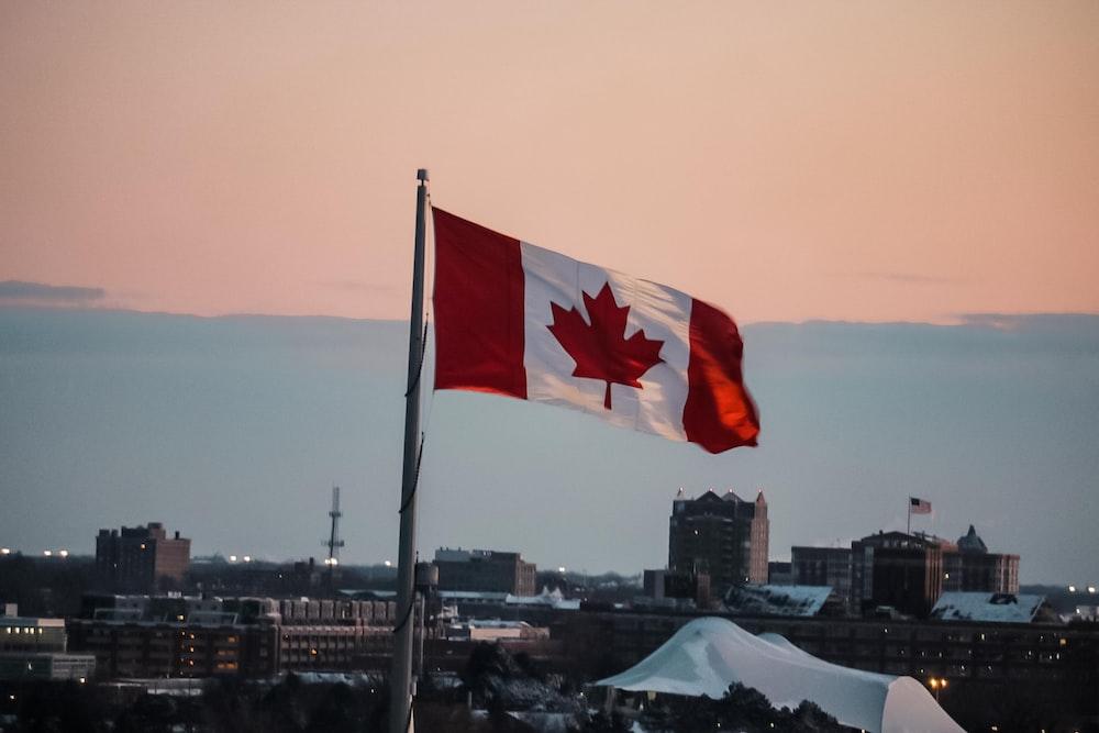 waving Canada flag
