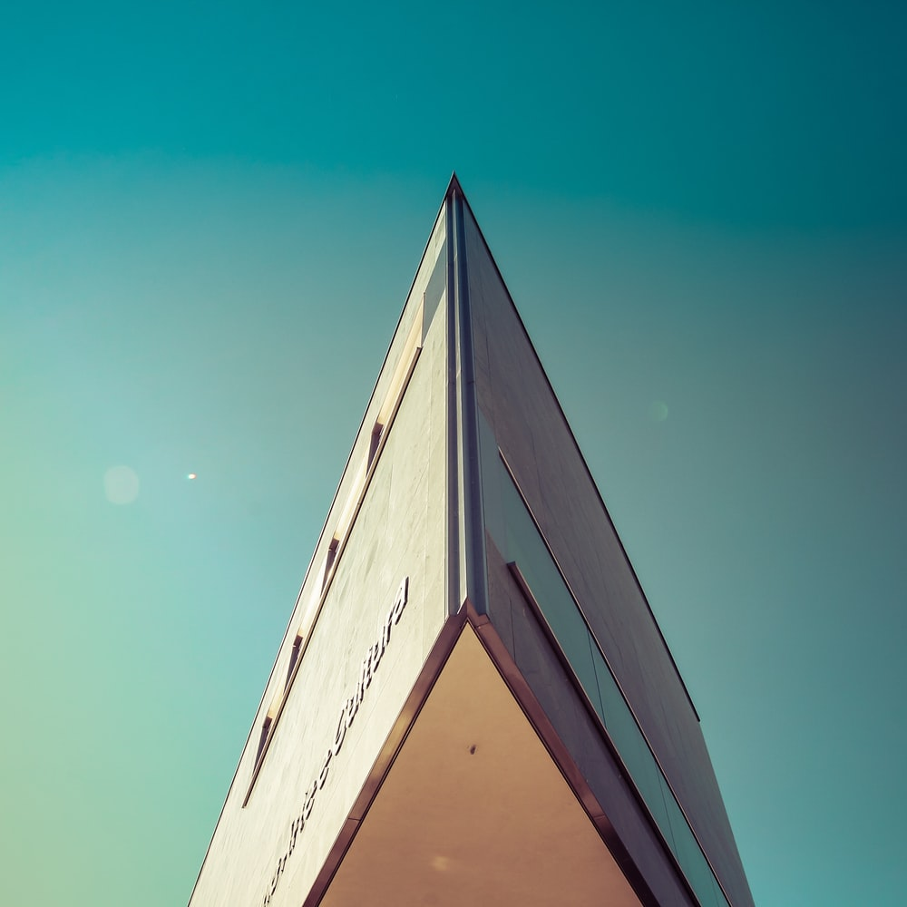 white pointed concrete building