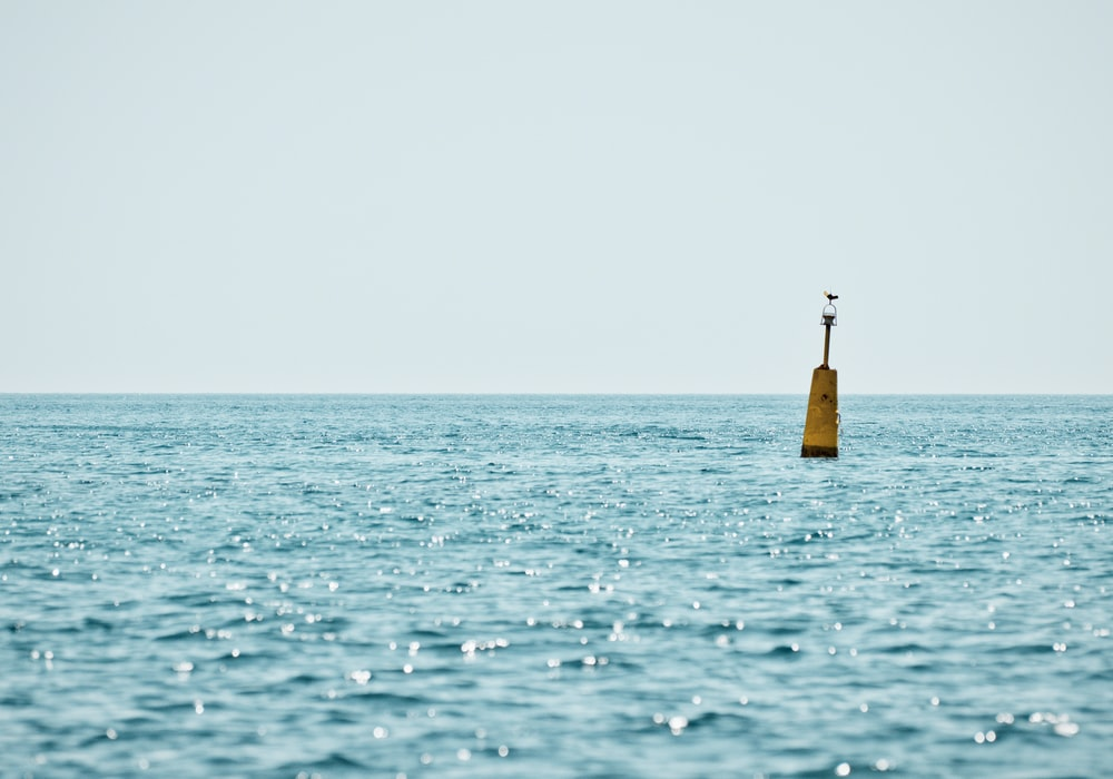 yellow life buoy