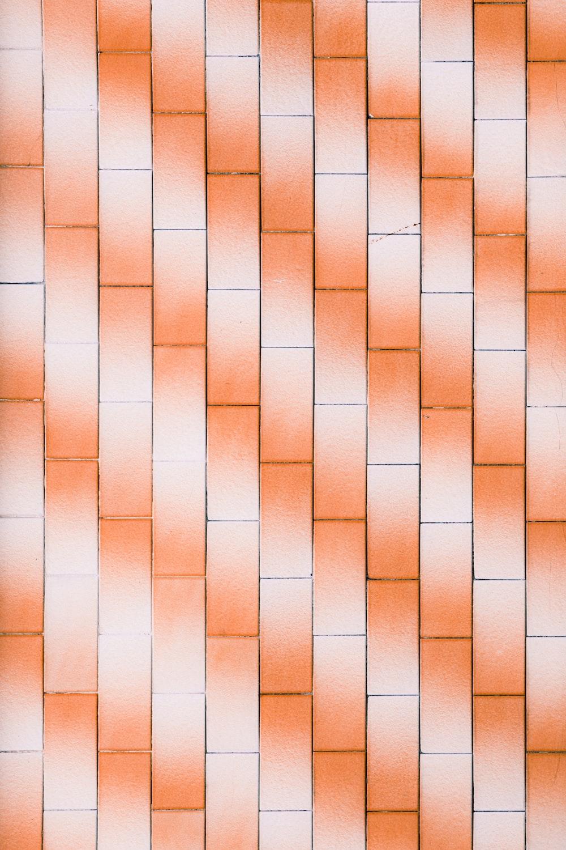 orange and white blocks wallpaper