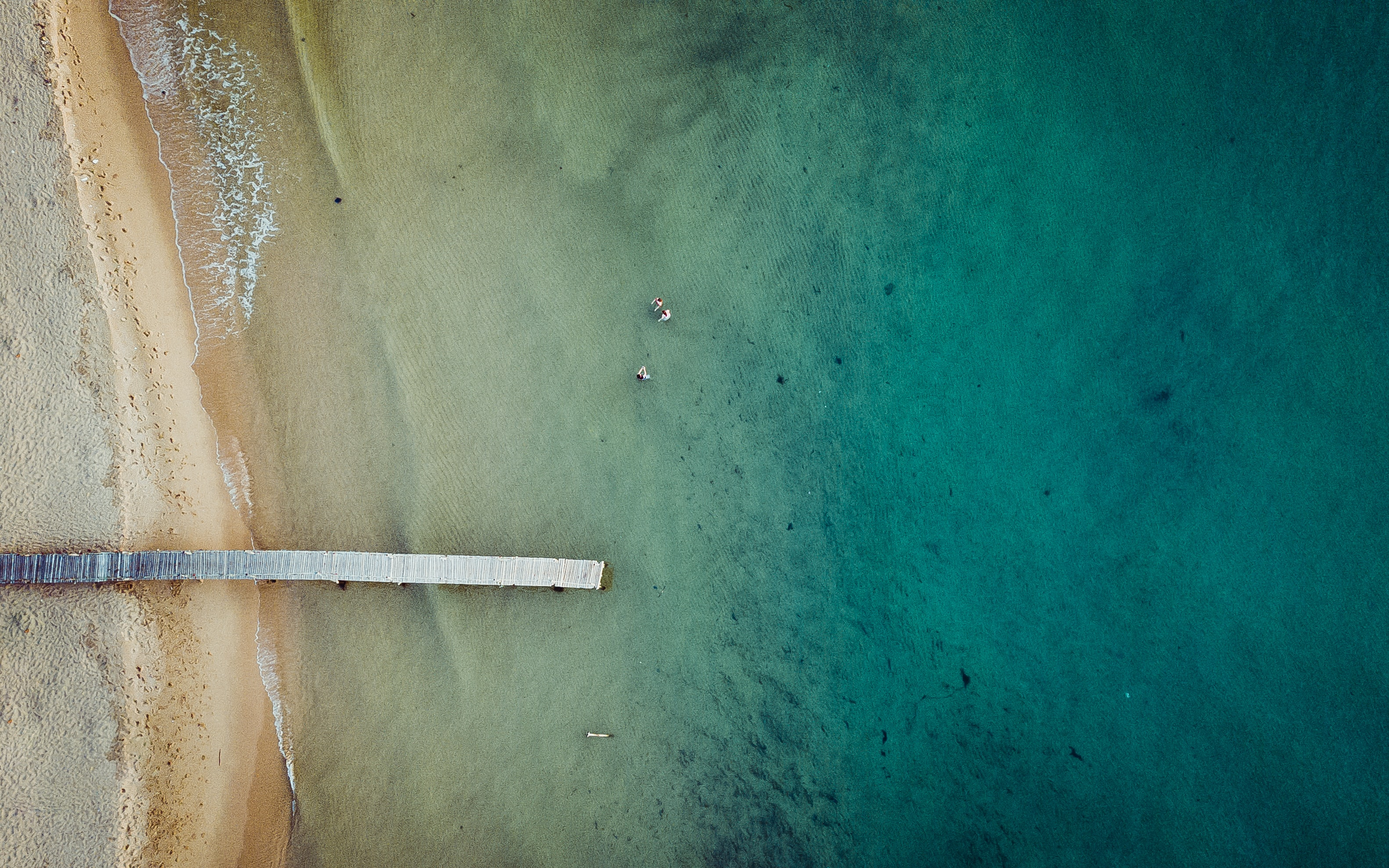areal photography of beach